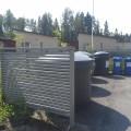 Vinorima-aita jätepisteen suojaksi